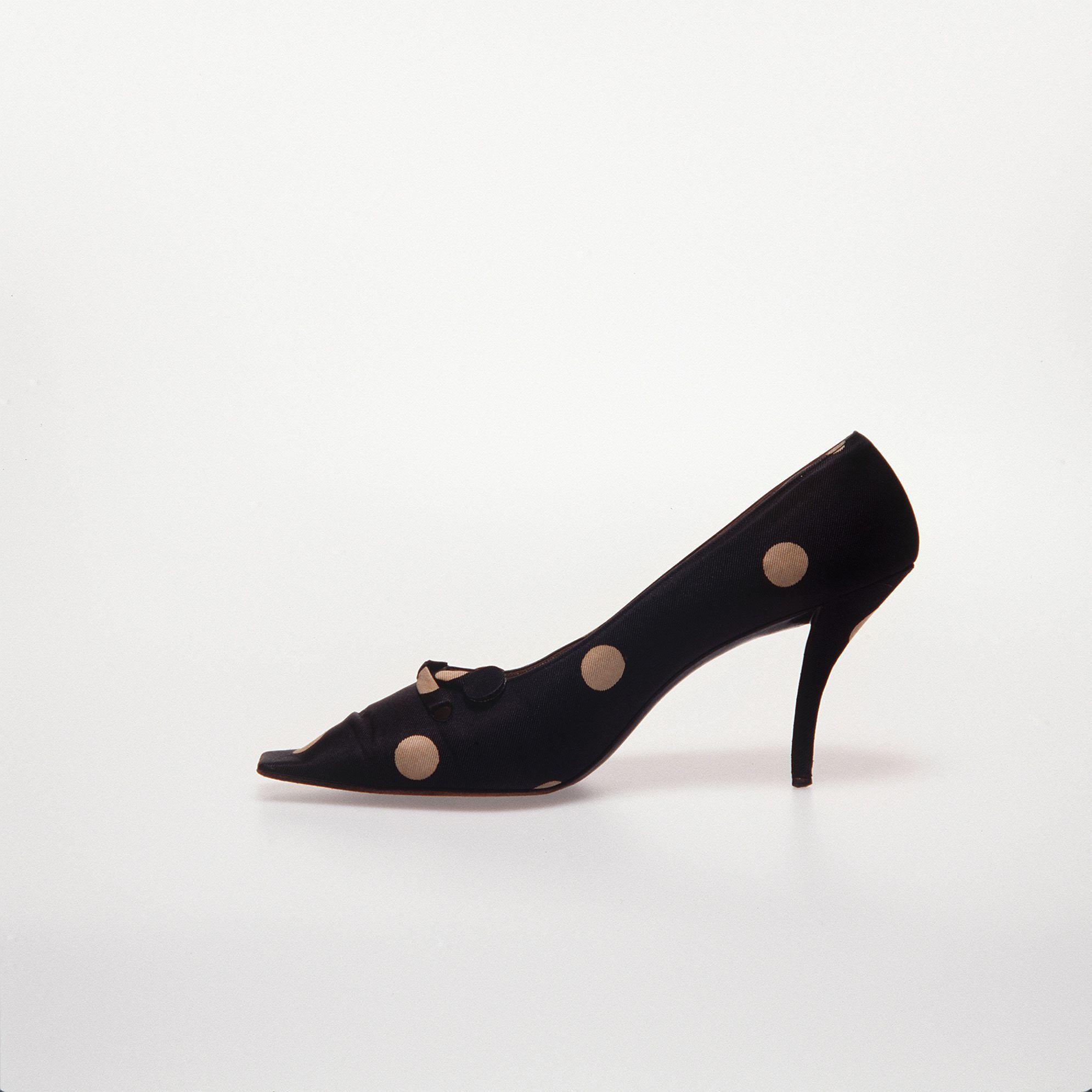 Museum Of Applied Arts Sciences Womens Silk Shoes Roger Vivier For Christian Dior France 1961 Roger Vivier Century Shoes Vivier