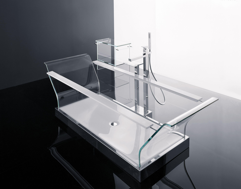 Novellini vasca freestanding in cristallo extrachiaro for Novellini arredo bagno