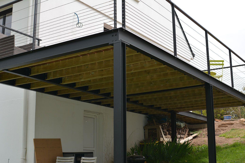 terrasse sureleve construction d une terrasse en bois sur pilotis beau terrasse bois. Black Bedroom Furniture Sets. Home Design Ideas