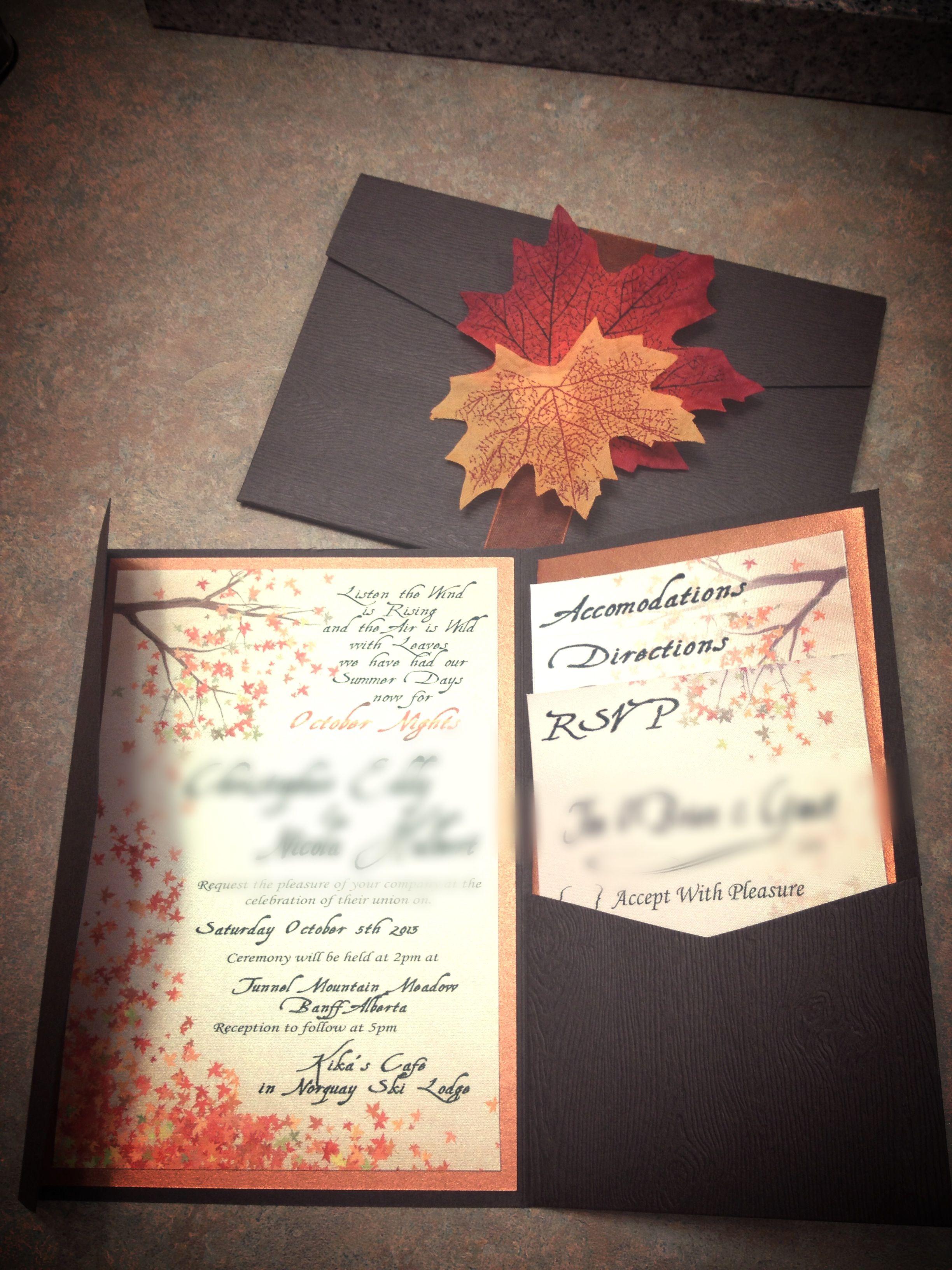 Fall Wedding Invitations Best Photos