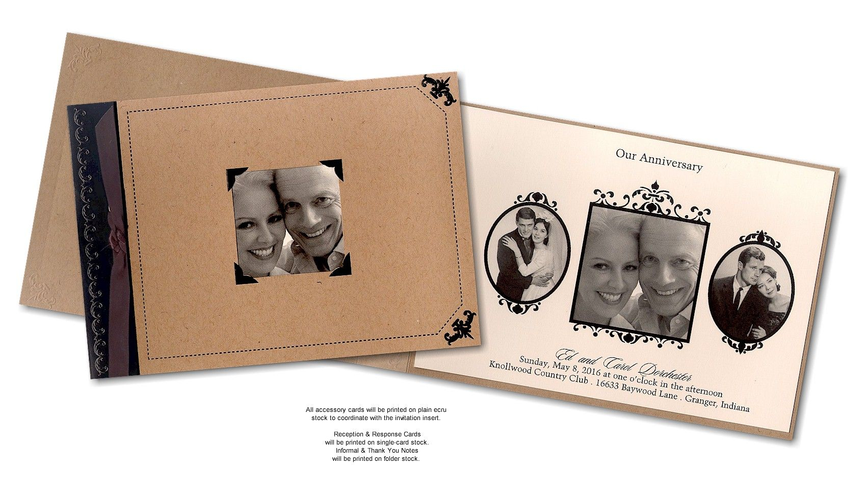 Cheap 50th Wedding Anniversary Invitations: Through The Years Anniversary Invitation