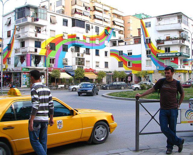 The Colourful Apartment Buildings Of Tirana Tirana Tirana