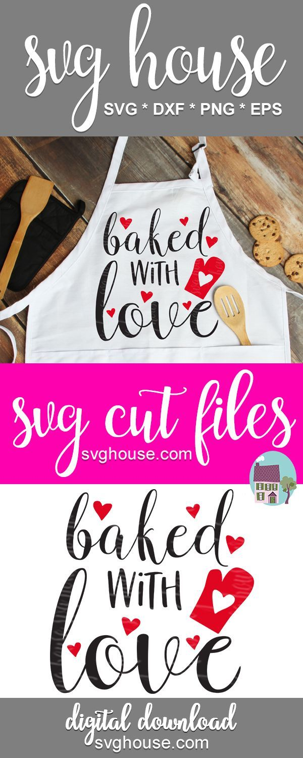 Download Baked With Love SVG#baked #love #svg in 2020   Valentines ...