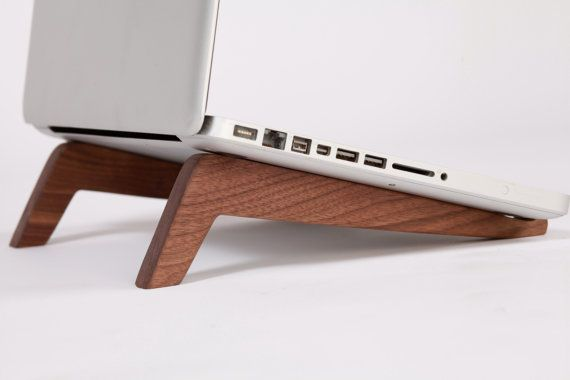 High Tech Goes Low Tech With These Gorgeous Laptop Stands Wooden