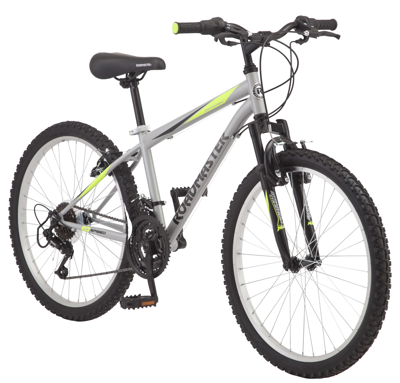 Roadmaster Granite Peak Boy S Mountain Bike 24 Inch Wheels Silver Walmart Com In 2020 Boys Mountain Bike Bicycle Mens Mountain Bike