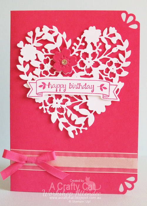Handmade Birthdayvalentine Card From A Crafty Cat Monochromatic