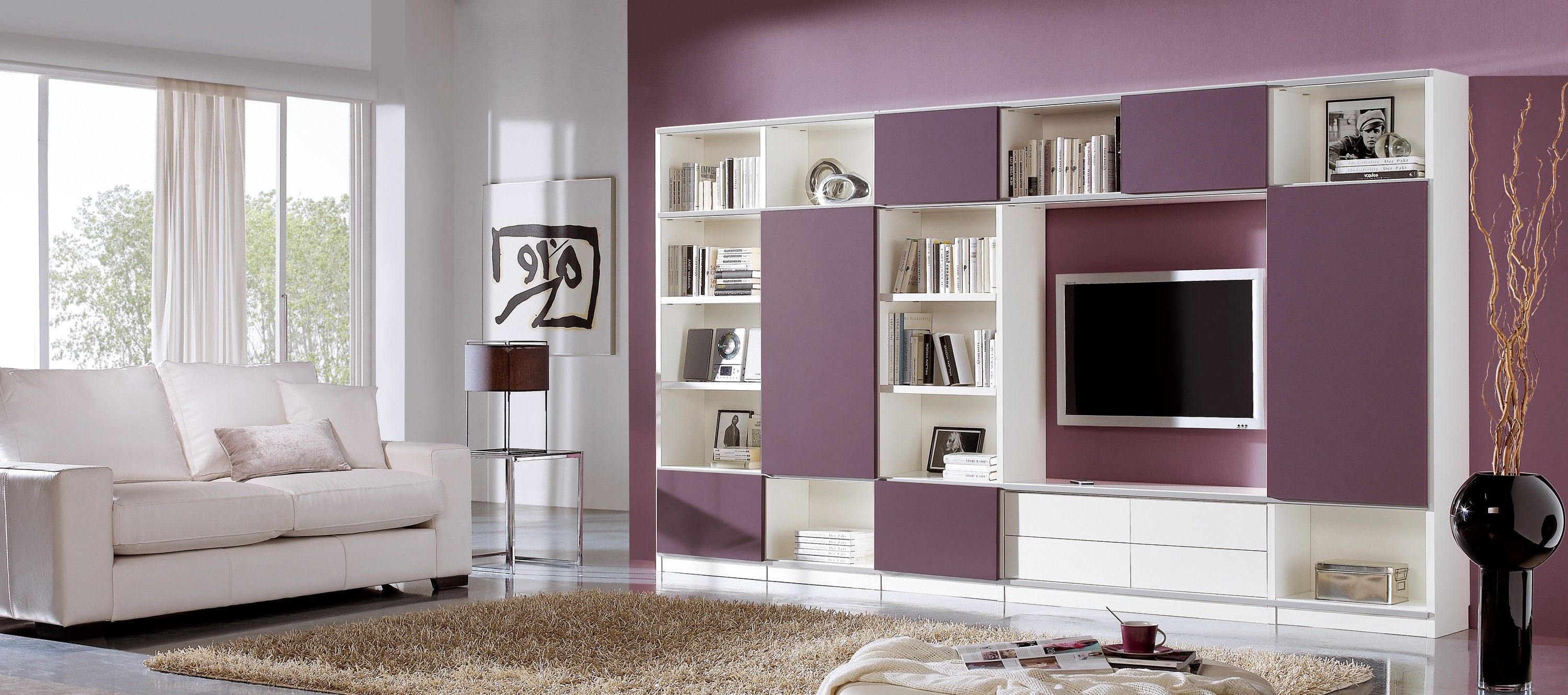 Modern Wall Unit System With Smart Sleek Shelves And Floating ...