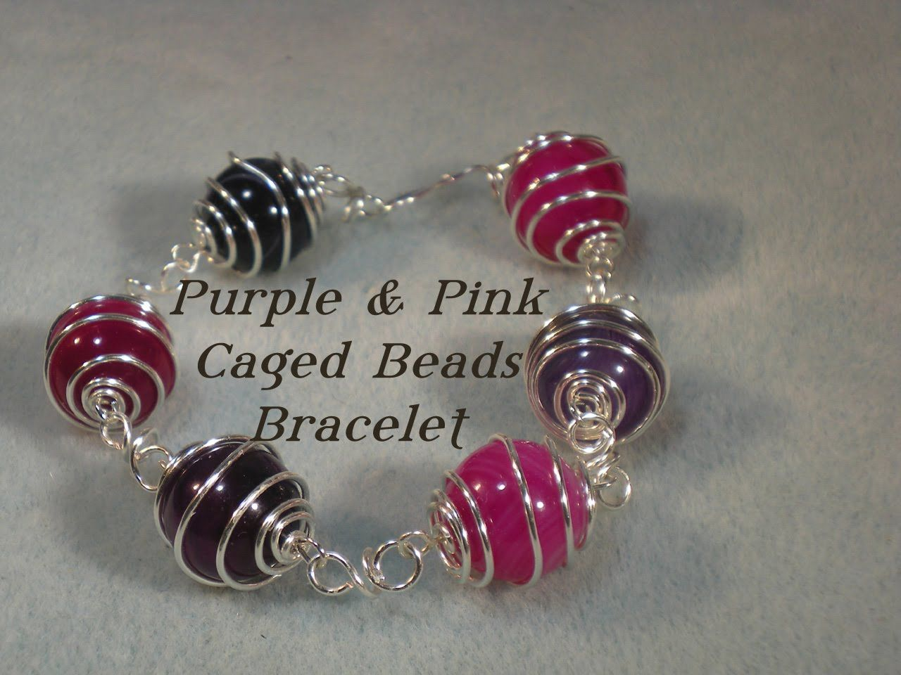 Wirework Caged Bead Bracelet Video | Jewelry | Pinterest | Beads ...