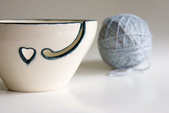 Yarn Bowl in Teal by RossLab on Etsy, $32.00