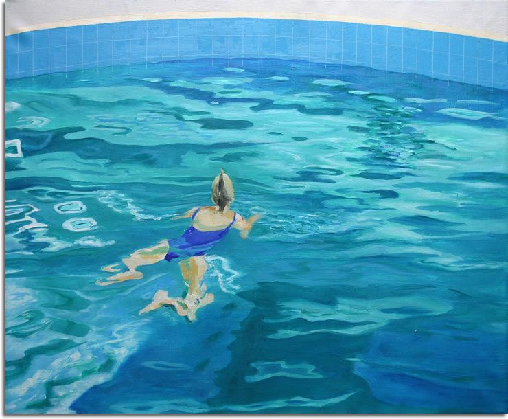 Painting Swimming Pool Water Pool Drawing Water Art