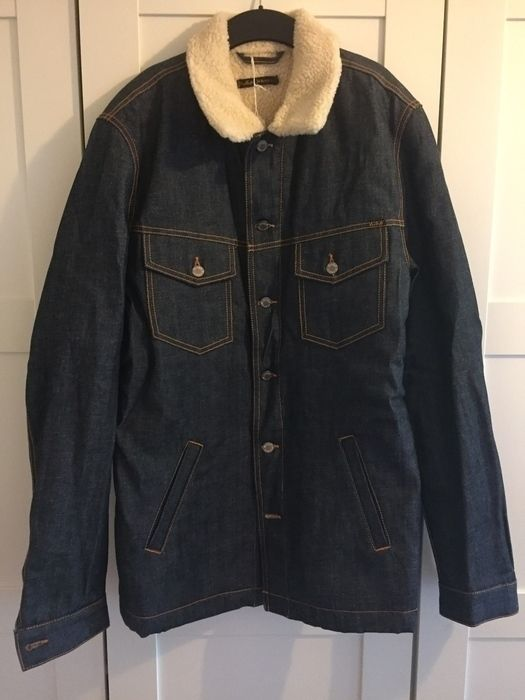 Nudie Jeans Men S Shearling Denim Jacket Vinted Co Uk Denim