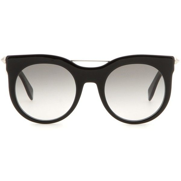 79dc5b1747f79 Alexander McQueen Embellished Cat-Eye Sunglasses (1.160 BRL) ❤ liked on Polyvore  featuring