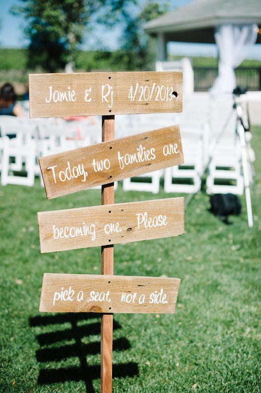 ceremony sign rj and jamies wedding photo by pictilio