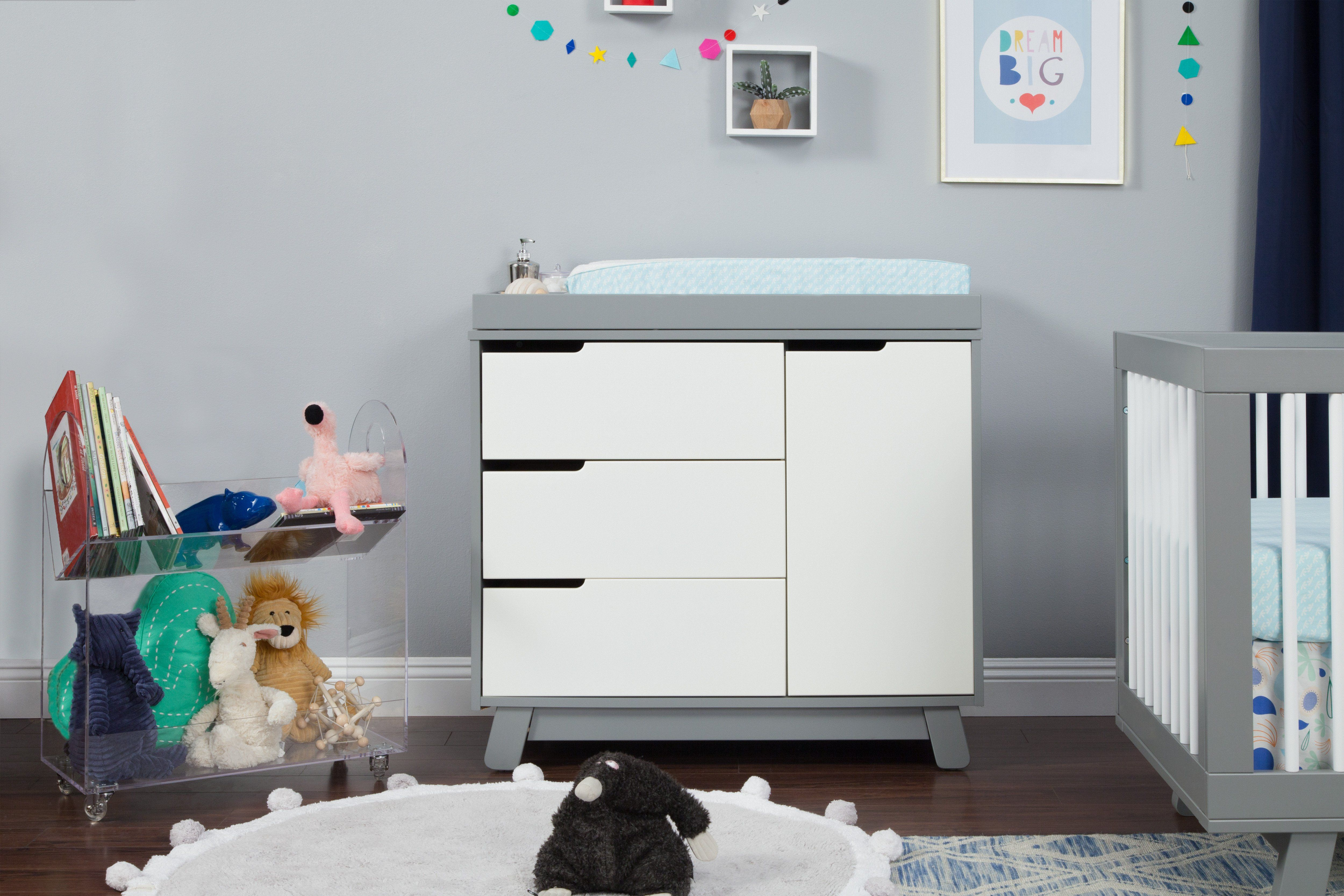 Hudson 3 Drawer Changer Dresser With Removable Changing Tray In