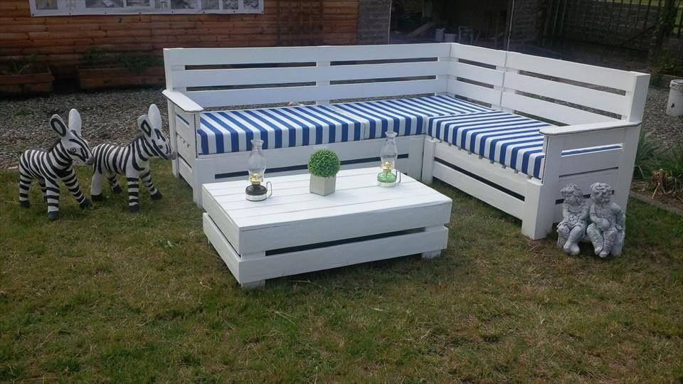 Pallet Outdoor L Shape Sofa Set 960×540