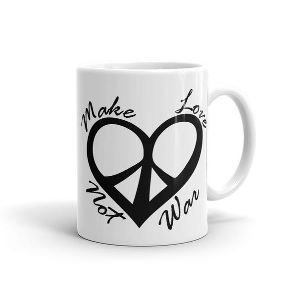 Make Love Not War Coffee Mug   Mugs, Coffee mugs, Ceramic mugs