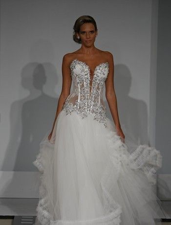 Loving The Bust Line And Crystal Work Pnina Wedding Dresses