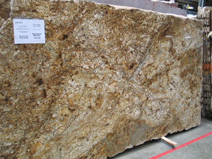 Crystalline Stone Slabs : Granite slabs casa bella golden crystal slab