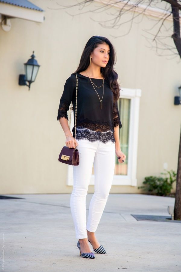 45 Elegant White Jeans Outfits for You | http://hercanvas.com/elegant-white-jeans-outfits-for-you/
