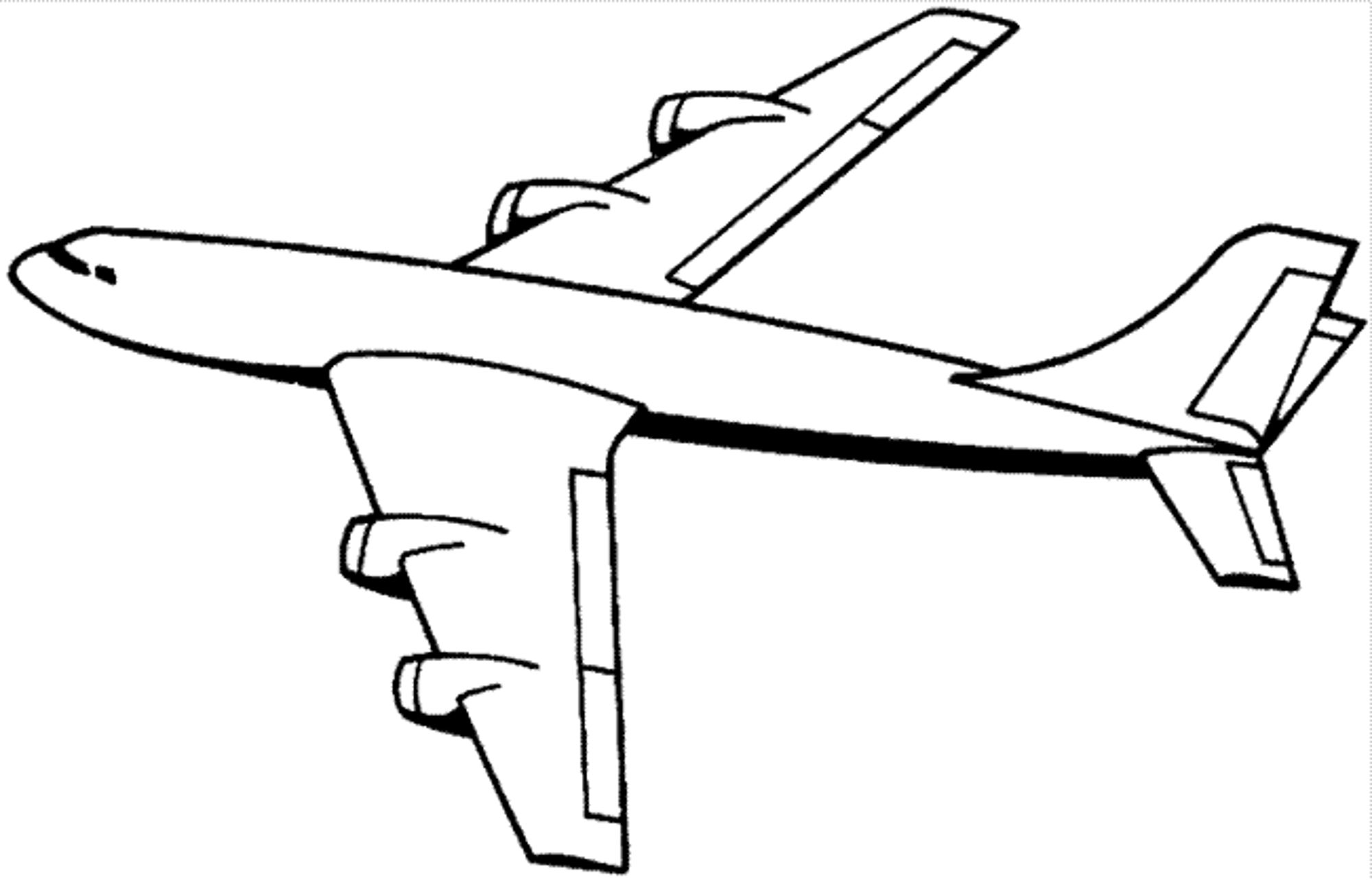 Printable Airplane Coloring Page Anak