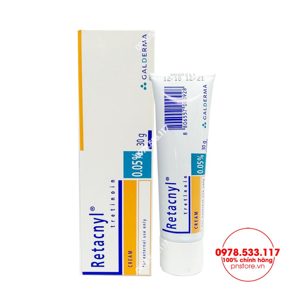 Kem đặc Trị Mụn Retacnyl Tretinoin Cream 0 25 Galderma Chinh Hang Phap Pn99999 Trị Mụn Phap Xa Phong