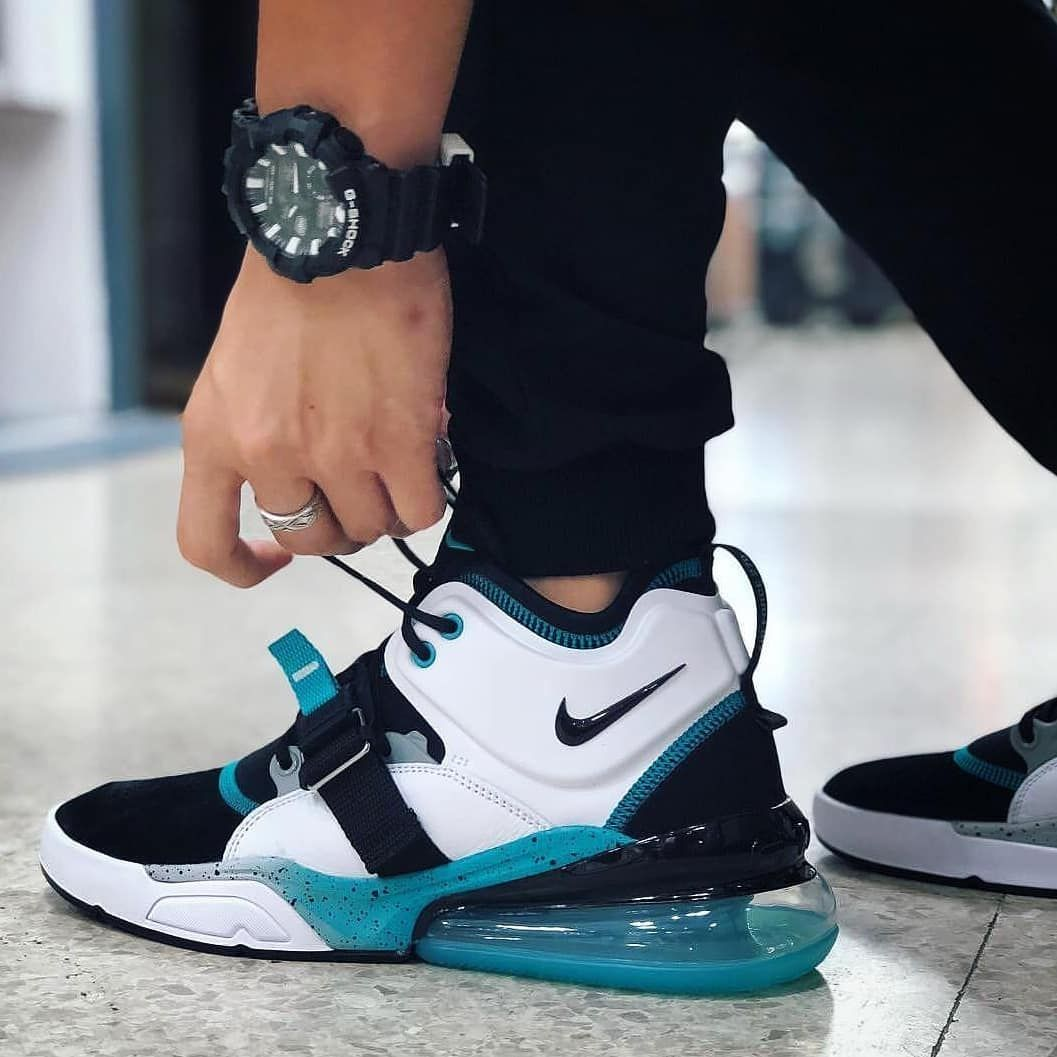 Rp 600 000 Nike Air Force 270 Black White Blue Size 39 40 41 42 43