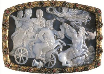 Cameo Byzantine, dated 315 BC. Found in the wreck of the Dutch ship Batavia.