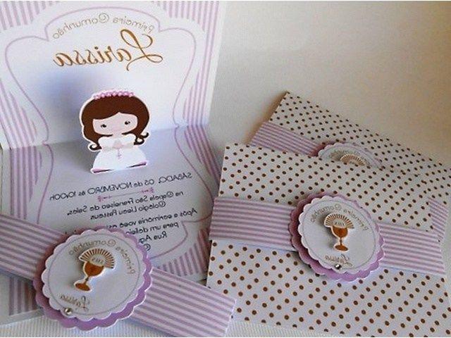 Invitaciones de primera comuni n originales para imprimir - Como hacer tarjetas para comunion ...