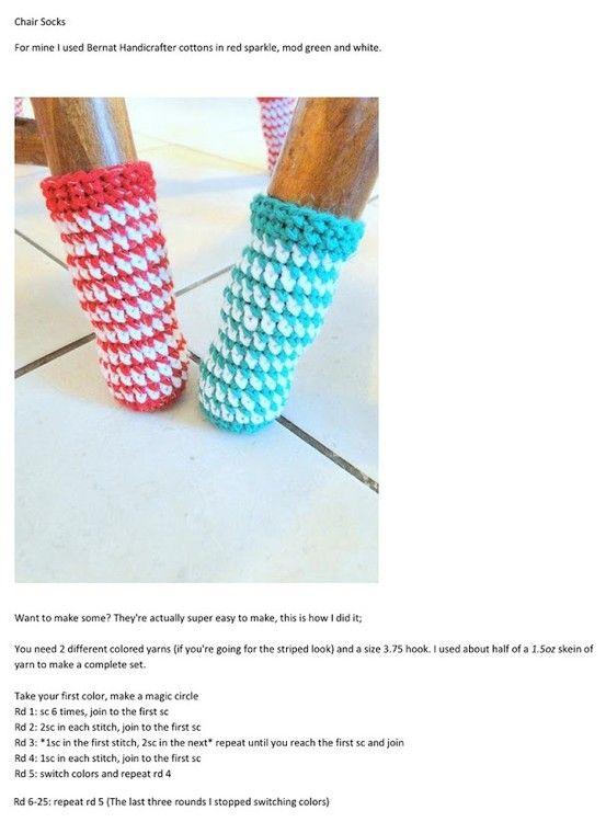 crochet chair socks! | Crochet to make soon | Pinterest | Sillas ...