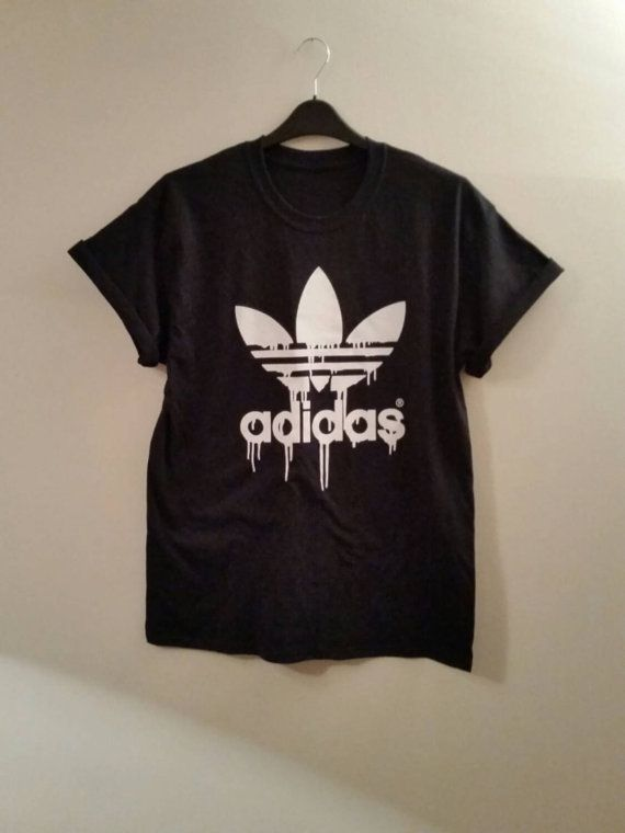 Brand new on trend dripping adidas tshirt top unisex mens