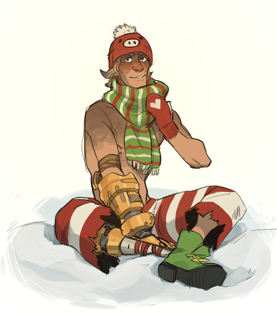 "jamzenn: ""Junkrat needs a matching Christmas skin with Roadhog [An ..."