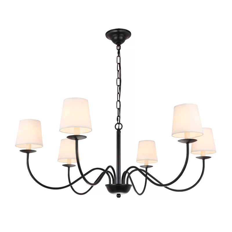 Goin 6 Light Shaded Classic Traditional Chandelier In 2021 Traditional Chandelier Light Shades Candle Style Chandelier