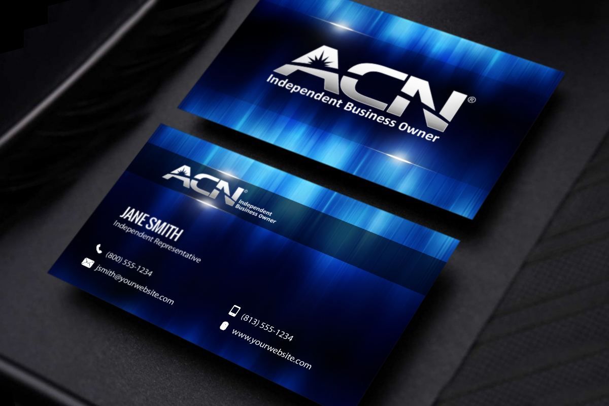 ACN Business Owners, check out our new business cards just