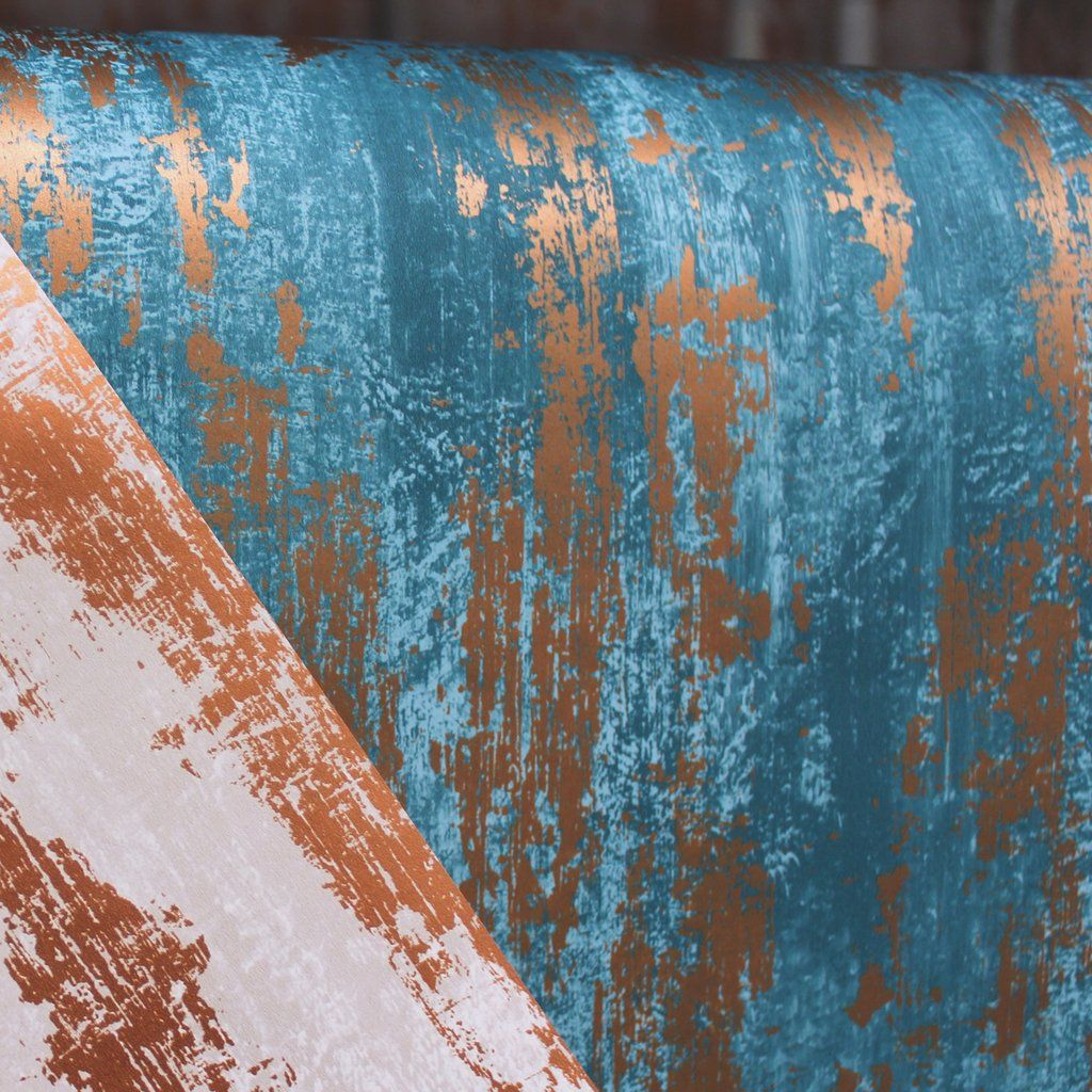 Industrial Texture Blue/Copper   Brown wallpaper, Industrial and ...