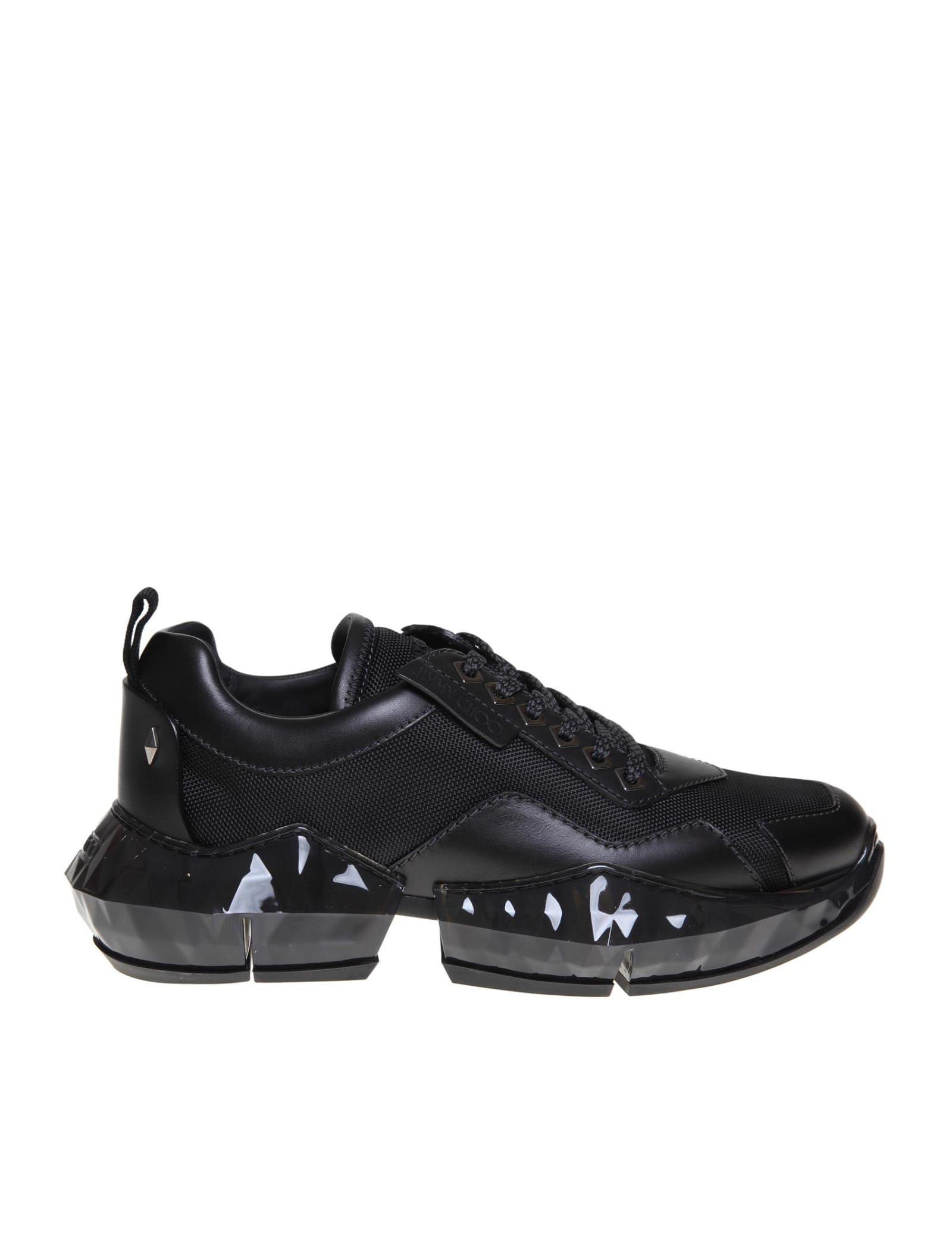 Black leather sneakers, Jimmy choo