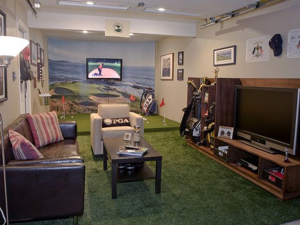 Awesome Rooms From Man Caves Small Man Cave Man Cave Design Golf Man Cave