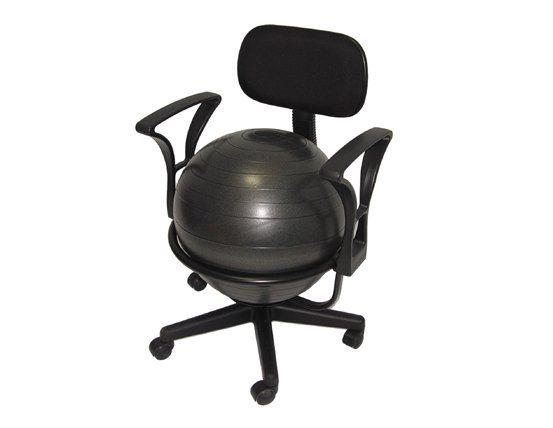 Aeromat Deluxe Ergonomic Ball Office Chair 35955 Exercise Ball