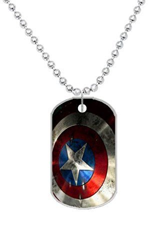 Custom Captain America Hero Shield Movie Dog Id Tag Pendant For Pets 2 Sides Be Sure To Check Out This Awesome Product Note Amazon Affi With Images Dog Id Tags