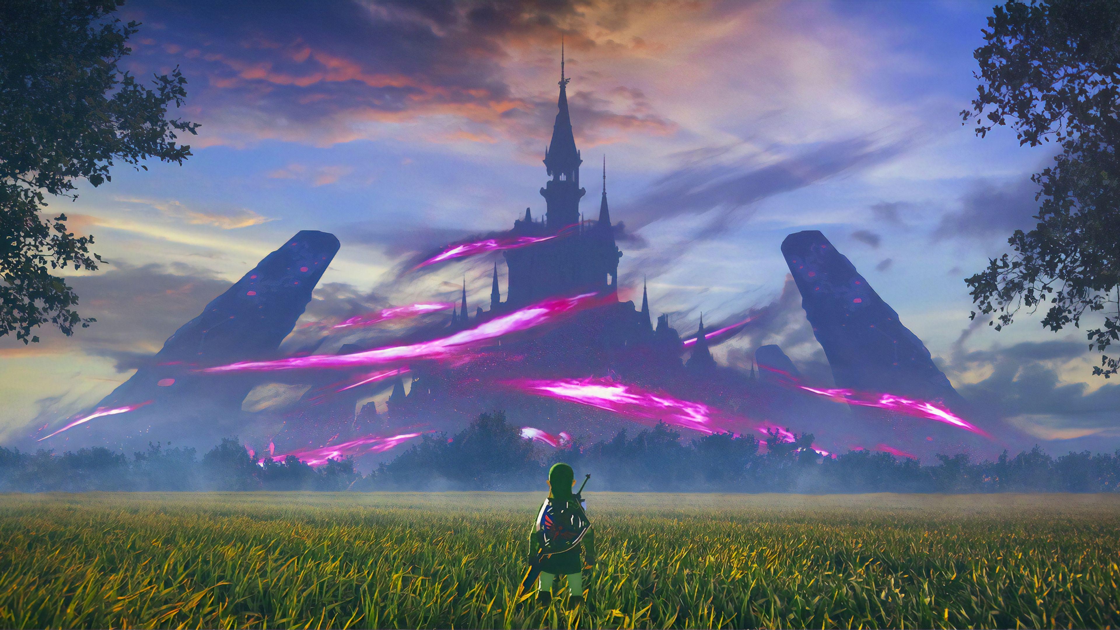 Zelda The Legend Of Zelda Wallpapers Hd Wallpapers Games Wallpapers Deviantart Wallpapers In 2021 Botw Landscape Scenery Digital Art The Legend Of Zelda Wallpaper