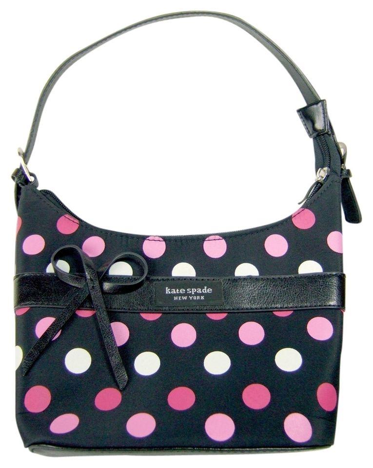 Kate spade polka dot tote bag black pink white 821898g kate spade polka dot tote bag black pink junglespirit Gallery