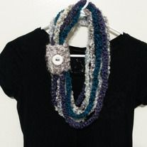 Accessorize with this stylish scarf!  Also called a cowl, this handmade item will keep you warm and compliment any outfit.  Handmade out of acrylic yarn.  Ready to ship.
