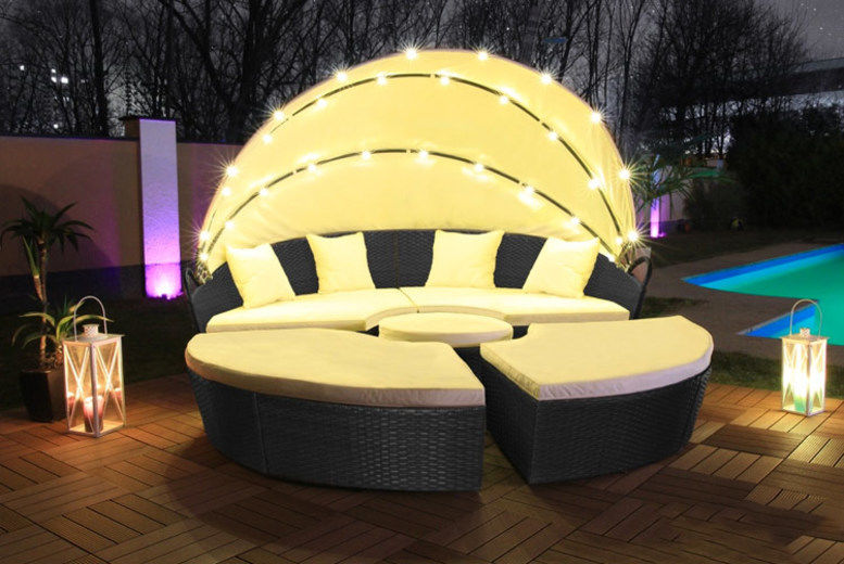LED Rattan Day Bed | Shop | Wowcher | Rattan furniture set ...