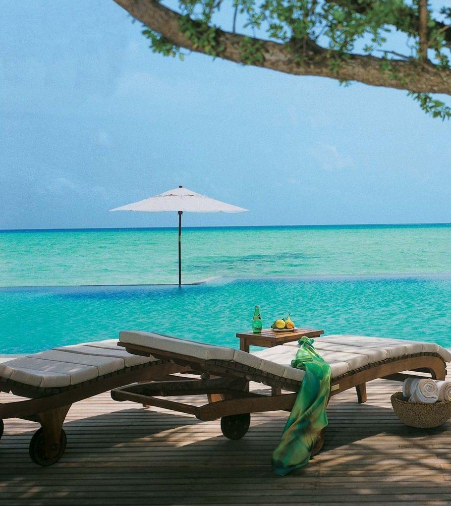 Private sun decks in all villas