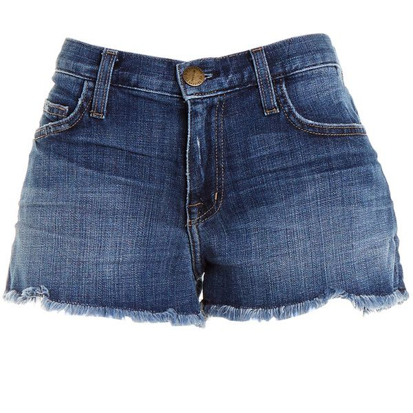 Pre-owned Women's Current/Elliott Blue Shorts ($45) ❤ liked on Polyvore
