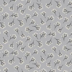 Makower UK - Into The Woods - Berry in Grey