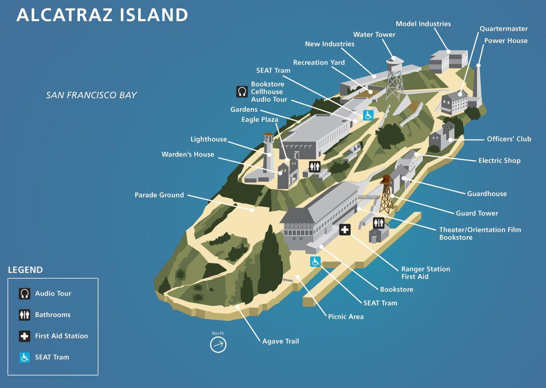 Explore San Francisco Alcatraz Map and more