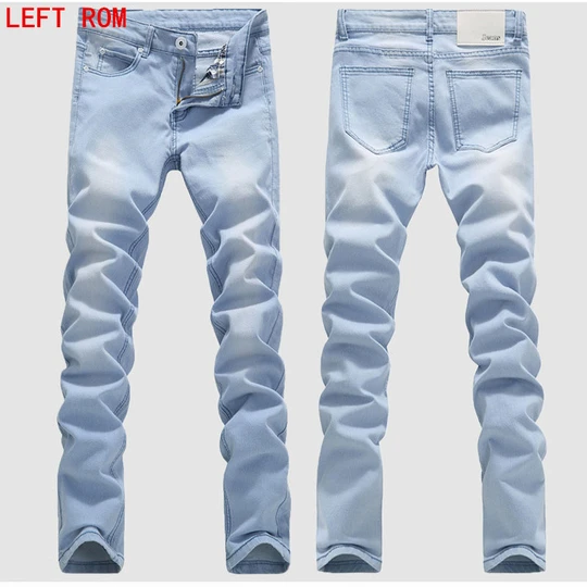 Men Enzo Mens Ripped Skinny Jeans Stretch Designer Smart Casual Denim Pants Trousers Clothing Shoes Accessories Quiebre Cl