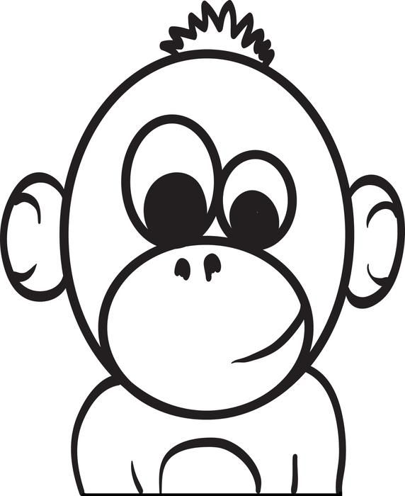 Baby Cartoon Monkey Coloring Page Monkey coloring pages