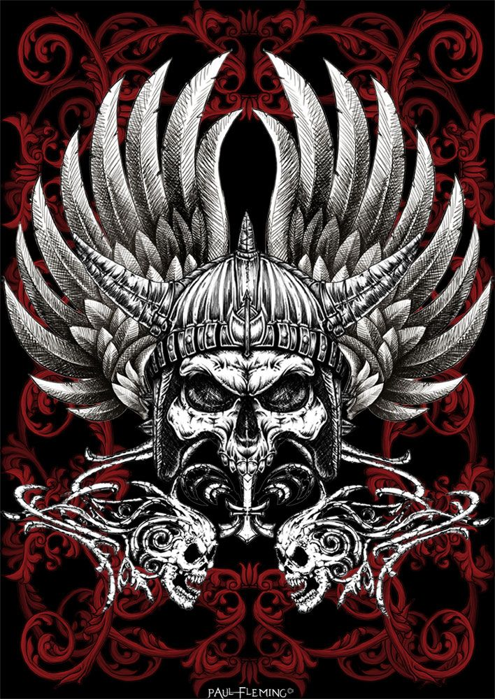 29c97216f Warrior Skull by *Oblivion-design on deviantART would make an awesome tattoo