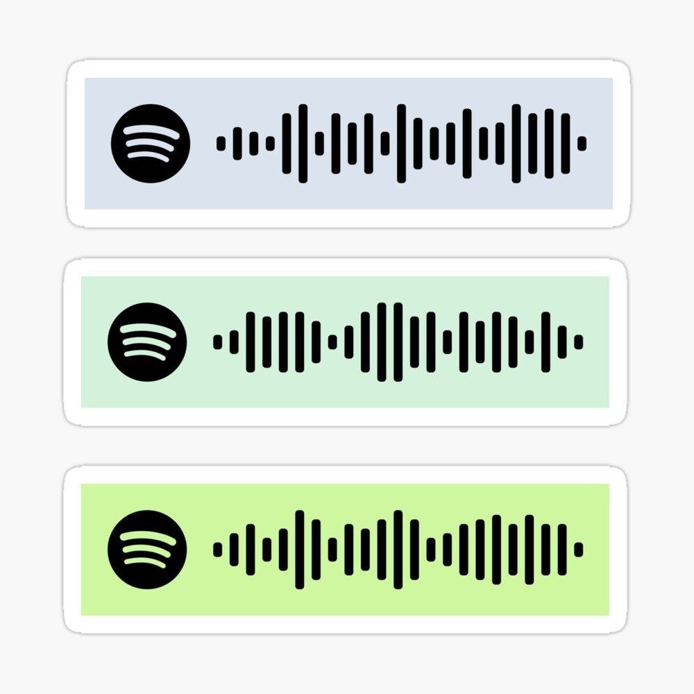 'Narrated for you Spotify codes 4/4' Glossy Sticker by